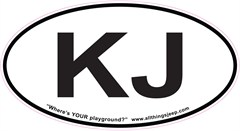 "KJ Oval ""Euro"" Sticker for your Jeep KJ"