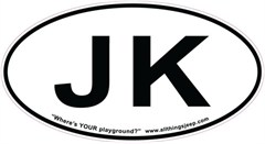 "JK Oval ""Euro"" Sticker for your Jeep JK"