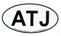 "ATJ Oval ""Euro"" Sticker (for our fans!)"