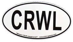 "CRWL Oval ""Euro"" Sticker (for rockcrawling fans)"