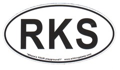"RKS Oval ""Euro"" Sticker (for rockcrawlers)"
