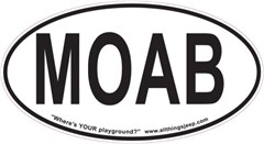 "MOAB Oval ""Euro"" Sticker"