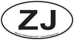 "ZJ Oval ""Euro"" Sticker for your Jeep Grand Cherokee"
