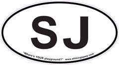 "SJ Oval ""Euro"" Sticker for your Jeep Grand Wagoneer"