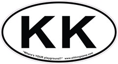 "KK Oval ""Euro"" Sticker for your new 2008 Jeep Liberty"