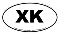 "XK Oval ""Euro"" Sticker for your 2006-up Jeep Commander"
