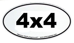 "4x4 Oval ""Euro-Style"" Sticker for 4-Wheelers"