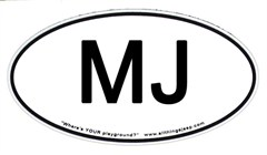 MJ Euro-Style Oval Decal (Jeep Comanche)