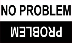 "Funny ""No Problem/Problem"" Off-Road Decal"