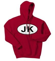 Oval Jeep JK Logo Men's Hoodie Sweatshirt
