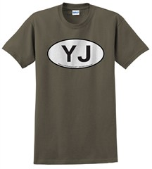 Oval Jeep YJ Logo Men's Tee
