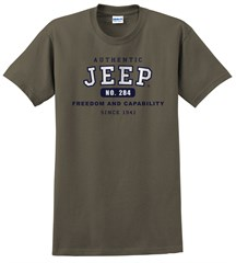 """Authentic Jeep"" Short Sleeved Shirt in Military Green"
