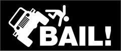 """BAIL!"" Decal"