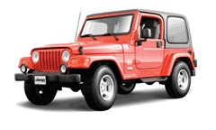 Jeep Wrangler Sahara, Red Diecast, 1:18,Italian Design