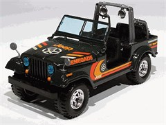 Jeep Wrangler Green Diecast Model 1/24