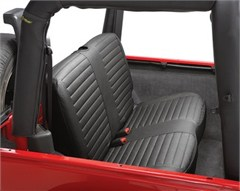 Seat Cover Rear Jeep Wrangler TJ 1997-2002 Black Denim Bestop
