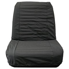 Seat Covers Front Jeep CJ 1965-1980 Low Back Seats Black Denim Bestop