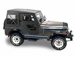 Bestop Replace-a-top Soft Top Skin CJ-5 1976-1983 w/door skins Black
