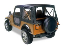 Bestop Replace-a-top Soft Top Skin CJ-7 1976-1986 w/door skins Black