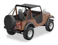 Traditional Bestop Bikini Top for Jeep M-38A1 (1951-1962), CJ5 (1955-1975), and CJ6 (1955-1981)