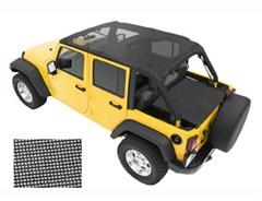 Safari Bikini Top- Header Style - 4 Door Jeep Wrangler 2007-2009