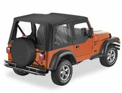 Sailcloth Replace-a-top, Clear Windows, Door Skins-Jeep TJ 97-02
