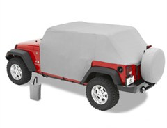 All Weather Trail Cover Jeep Wrangler JK 4D 2007-2016 Gray by Bestop