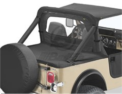 Bestop Deck Cover, Jeep CJ7/YJ, 80-91 W\SUPERTOP BOW FOLDED DOWN