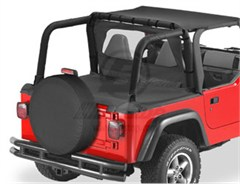 Bestop Duster� Deck Cover, Wrangler, 97-02  W\FACTORY SOFT TOP BOW FOLDED DOWN