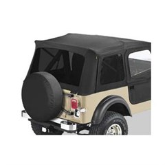 Supertop Tinted Window Kit in Black Denim for CJ and YJ