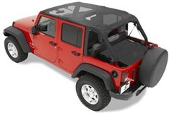 Bestop Cable Safari top, Mesh-Wrangler JK 4 door 2010-2014
