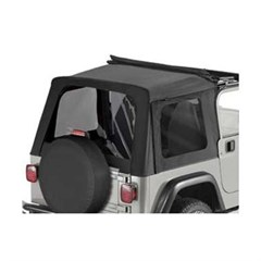 Tinted Window Kit, Black Denim - Jeep Wrangler TJ Sunrider