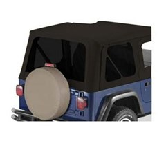 Supertop Tinted Window Kit, Black Denim - Jeep Wrangler TJ