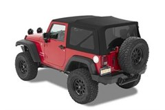 Bestop Black Twill Replace-a-top - JK 2 Door 2007-2009