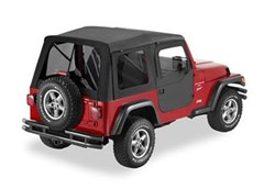 Supertop, Jeep TJ -Tinted Windows w/2 pce doors- Black Denim