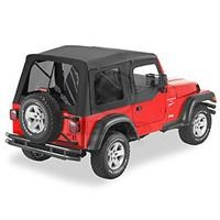 Supertop, Jeep TJ -Tint Windows w/half door-Black Diamond