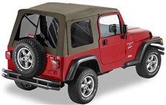 Bestop Supertop Soft Top, Jeep TJ -Tinted Windows, Khaki