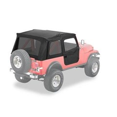 Bestop Supertop Soft Top- Jeep CJ7, YJ w/ 2 pce doors
