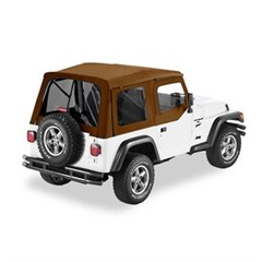 Bestop Supertop Soft Top - Jeep YJ w/ half doors, Spice