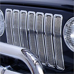 Chrome Billet Grille Inserts for Jeep Wrangler TJ & LJ (1997-2006)