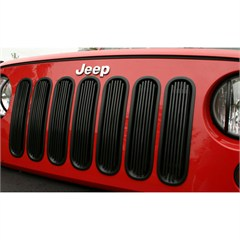 Billet Grille Inserts, Jeep JK (2007-2014), Black