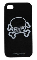 Jeep Skull & Crossbones iPhone Hard Case Black