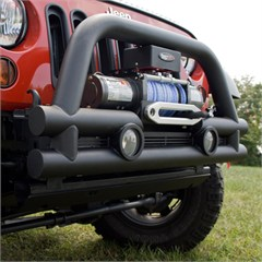 3 Inch Stubby Tube Front Winch Bumper for Jeep Wrangler JK (2007-2014)