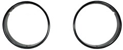 Headlight Bezels, Jeep TJ (1997-2006), LJ (2004-2006), Black