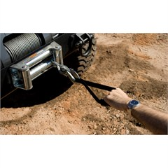Universal Black Winch Grab Handle Strap by Rugged Ridge
