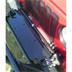 Black Winch Mount Plate for Jeep Wrangler YJ (1987-1995), TJ (1997-2006), and LJ (2004-2006)