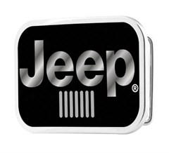 Jeep Logo Buckle Belt - Glossy Black Finish