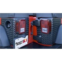 Body Armor Corner Guards, Rugged Ridge, Jeep Wrangler JK (2007-2014) 2-Door, Pair, Black