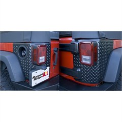 Body Armor Corner Guards, Rugged Ridge, Jeep Wrangler JK (2007-2014) 4-Door, Pair, Black