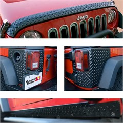 Body Armor Guard Kit, Rugged Ridge, Jeep Wrangler JK (2007-2014) 2-Door, 5 Pieces, Black